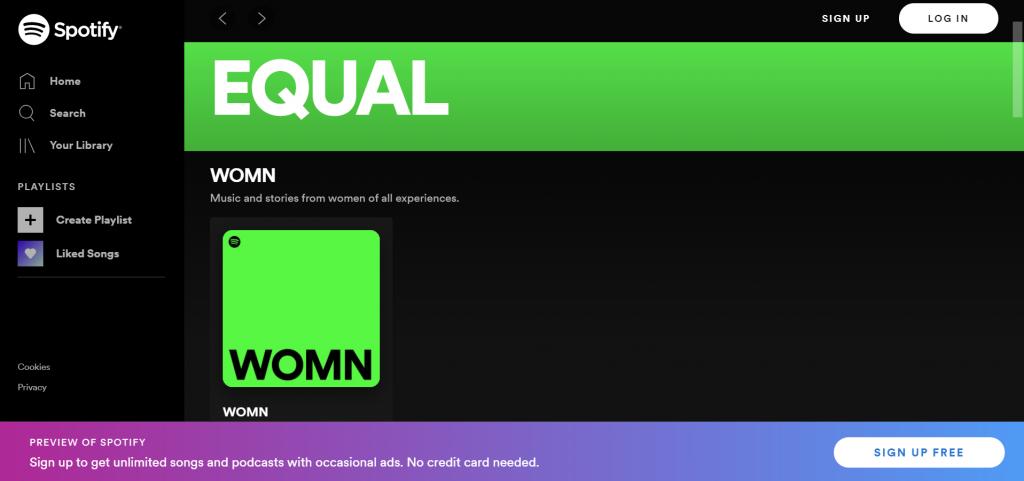 Spotify's EQUAL hub