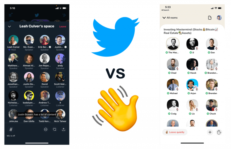 twitter vs clubhouse