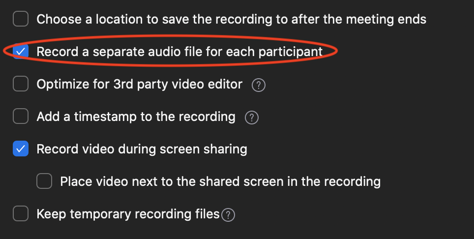 record your podcast using zoom